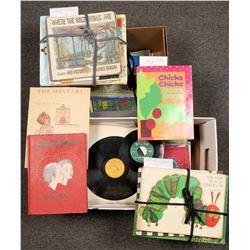 Children's Collection of Books & Vinyl Records  [127791]