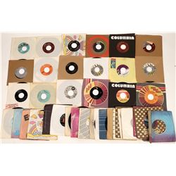 Eclectic 45 RPM Vinyl Record Collection (40)  [129805]
