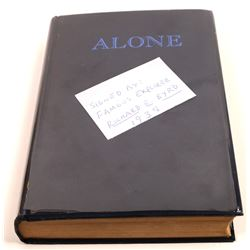 ALONE a Signed Book Written by Rear Admiral Richard E. Bryd 1938  [129665]