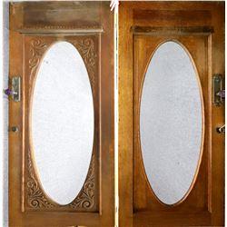Antique House Door with Oval Window  [126600]
