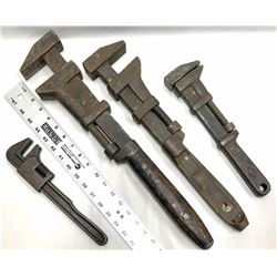 Antique Iron Wrench Collection (4)  [131506]