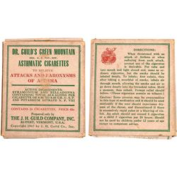 Dr. Guild's Green Mountain Asthmatic Cigarettes  [129662]
