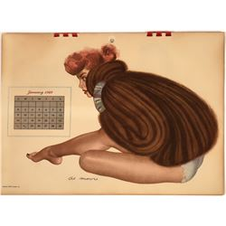 Old Fashion 1949 Pin-Up Calendar  [127809]