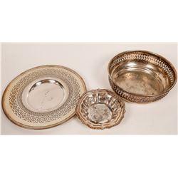Silver Plated Vintage servingware (3)  [127730]