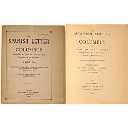 The Spanish Letter of Columbus Reprint (Rare)  [128247]