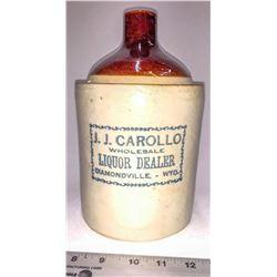 J.J. Carollo Liquor Dealer Diamondville, Wyoming Ceramic Jug  [131258]