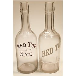 Red Top and Red Top Rye Back Bar Bottles   [125101]