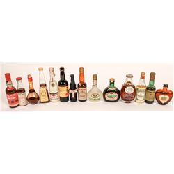 Vintage Miniature Liquor Bottles (14)  [131632]