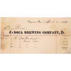 Boca Brewing Co. Billhead, 1882  [131065]