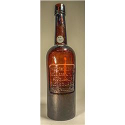 Deep red Thos Taylor Sunken panel whiskey fifth  [131401]