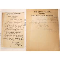 Chester, Montana Saloon Billhead Pair  [123937]