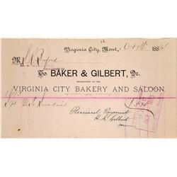 Virginia City Bakery & Saloon Billhead  [113855]
