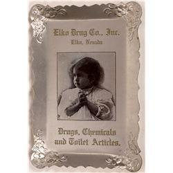 Elko Drug Company Advertising Tray  [128334]
