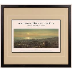 Anchor Brewing Company Saloon Advertising, framed items (4)  [131488]