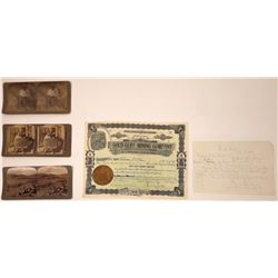 Arizona Mining Ephemera & Stereo Views (5)  [131519]