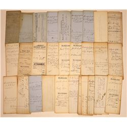 Large Lot of Legal Docs from Nevada City, Grass Valley, 1864-1875 (20+)  [128838]