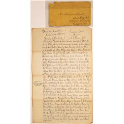 Two Red Dog Court Ordered Sale Documents, 1863  [128840]