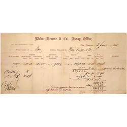 Rare Riehn, Hemme & Co. Assay Office - Memorandum of Gold  [123831]