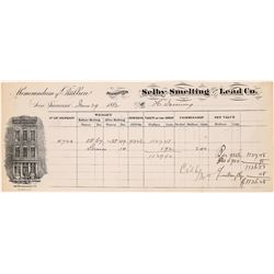 Selby Smelting & Lead Co. Assay Memorandum, 1882  [129846]