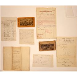 Leadville Ephemera Collection Includes Two Stereoviews, 1883  [131529]