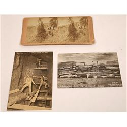 Colorado Mining Photo Group Includes a Stereoview & Two Real Photo Postcards  [131530]