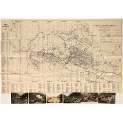 1928 Coeur d'Alene mining map and postcards  [123832]