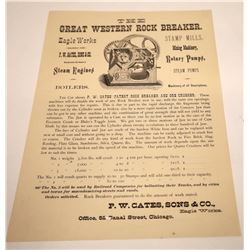 Mining Jaw Crusher Broadside, Chicago, c1890  [131017]