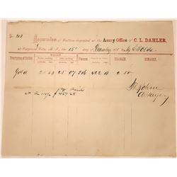 C. L. Dahler Assay, 1875, Virginia City, Montana Territory  [123952]
