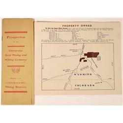 South Dakota and Wyoming Mining Prospectuses  [123849]