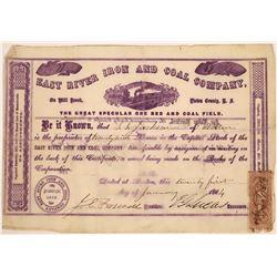 East River Iron & Coal Company Stock, Nova Scotia, 1864  [129496]