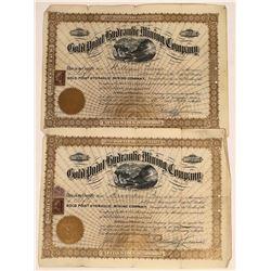 Gold Point Hydraulic Mining Company Stocks, British Columbia, 1899 (2)  [129502]