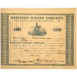 Neepigon Mining Company Stock, Island of St. Ignace, Lake Superior, 1850  [128800]