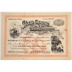 Wild Goose Mining & Trading Company Stock, Alaska  [129493]
