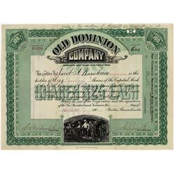 Old Dominion Arizona Copper Stock Cert  [129783]