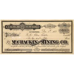 McCrackin Consolidated Mining Company Stock Certificate  [129851]