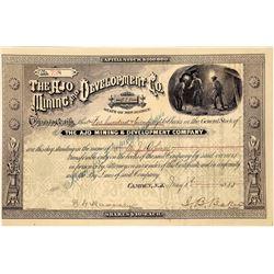 Ajo Mining & Development Co. Stock Certificate  [129854]