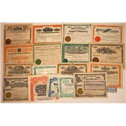 Arizona Copper Mining Stock Collection  [113889]