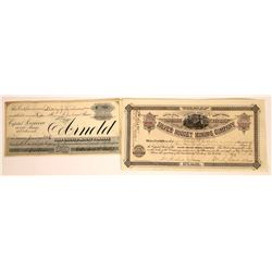 Two Different 1880s Arizona Mining Stock Certificates  [113881]