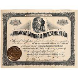 Arkansas Mining & Investment Company Stock, 1888  [128819]