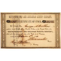 South-Western and Arkansas Mining Company Stock, 1850  [128792]