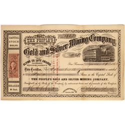 People's Gold & Silver Mining Co Stock, Monitor District, 1865  [129487]