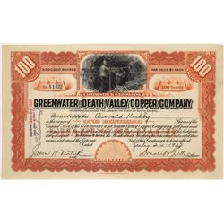 Greenwater & Death Valley Copper Company Stock, 1907  [129499]