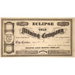 Eclipse Gold Mining Company Stock, Downieville, Cal.   [128878]