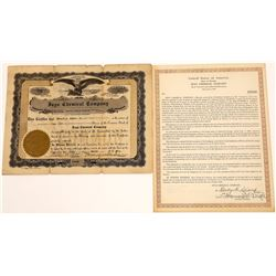 Inyo Chemical Company Stock Certificate and Gold Debenture  [127694]
