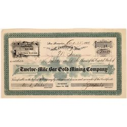 Twelve- Mile Bar Gold Mining Stock, Plumas County, Cal. 1900  [129849]