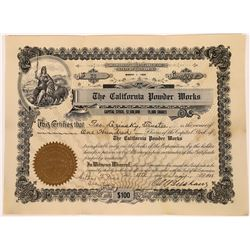 California Powder Works Stock Certificate  [127737]
