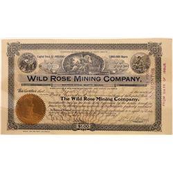 Wild Rose Mining Company Stock, Inyo County, Panamints, 1907  [128872]