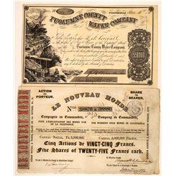 California Gold Rush Mining Stock Pair  [113870]