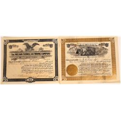 Creede, Colorado Mining Stock Certificate Pair  [113963]
