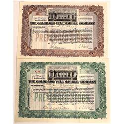 Colorado-Yule Marble Company Stock Certificates  [113873]